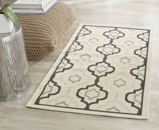 Savannah Multipurpose Indoor/Outdoor Rug, 78 X 152 cm - Beige & Black