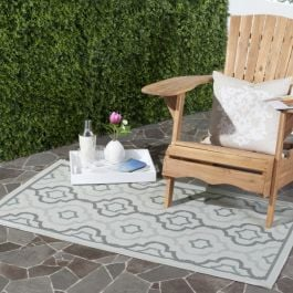 Savannah Multipurpose Indoor/Outdoor Rug, 78 X 152 cm - Light Grey & Anthracite