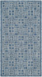 Nantucket Indoor/Outdoor Rug, 78 X 152  cm - Navy & Grey