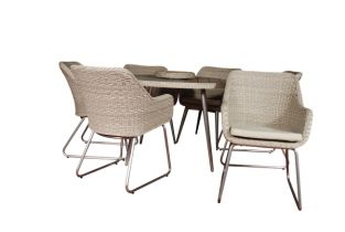 Eight Seater San Pedro Rattan Round Table with Lazy Susan - 160cm