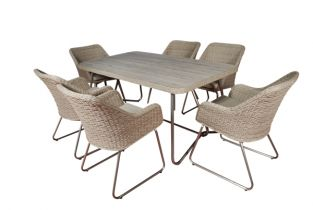 Six Seater Rectangular San Pedro Dining Set - 160cm