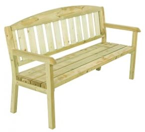 3 Seater Softwood Bench - 5.7ft