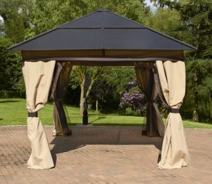 Square Polycarbonate Gazebo 3 x 3m