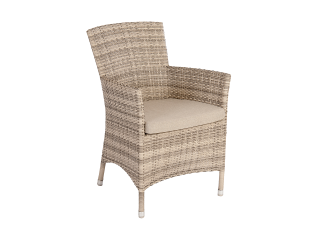 Alexander Rose Ocean Wave Rattan Armchair with Cushion