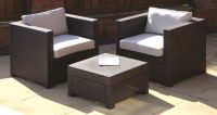 Brown Humber Rattan Tea for Two Garden Set