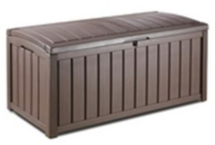Glenwood Resin Garden Storage Box in Brown