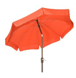 Acamp 2.2m Round Crank & Tilt Parasol in Terracotta/Anthracite with Flaps