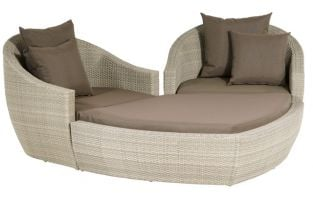 Ravello Designer Weave Garden Lounging Heart Set in Grey Wash