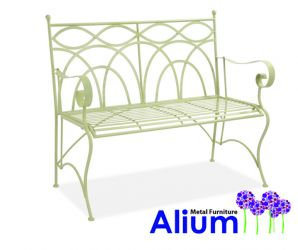 Alium™ Palermo 1.13m (3ft 9in) Steel Bench