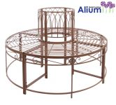 Alium� Ischia Steel Circular Garden Tree Seat in Brown - Full Circle