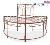 Alium� Ischia Steel Circular Garden Tree Seat in Brown - Half Circle