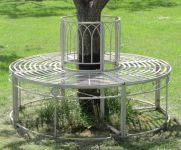 Steel Tree Seat in Cream - Full Circle Ischia by Alium™