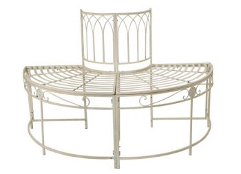 Steel Tree Seat in Cream - Half Circle Ischia by Alium™