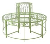 Alium� Ischia Steel Circular Garden Tree Seat in Green - Full Circle