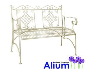 Alium™ Como 1.08m (3ft 6½ins) Steel Bench