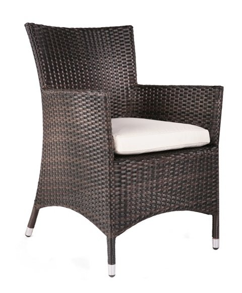 "4 Seater Rattan Weave Garden Furniture Set (Mixed Brown) - Asha� ""Marlborough"" with Parasol"