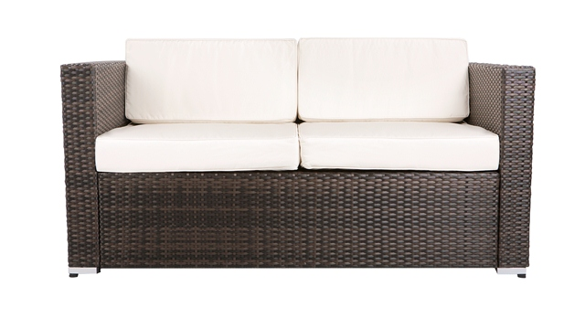 "4 Seater Rattan Weave Garden Sofa Set - Asha™ ""Chartwell"" (Mixed Brown)"