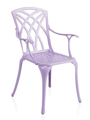 Alium™ Washington Cast Aluminium 4 Seater Square Garden Furniture Set in Lilac
