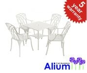 Alium� Washington Cast Aluminium 4 Seater Square Garden Furniture Set