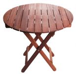 "Monkfin ""Springfield"" Hardwood 80cm Round Folding Garden Table"