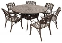 Eclipse Cast Aluminium 6 Seater Round Garden Dining Set