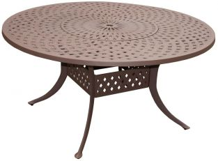 Eclipse Cast Aluminium 150cm Round Garden Table with Lazy Susan