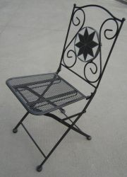 Set of 2 Rimini Mosaic Cast Aluminium Folding Chairs