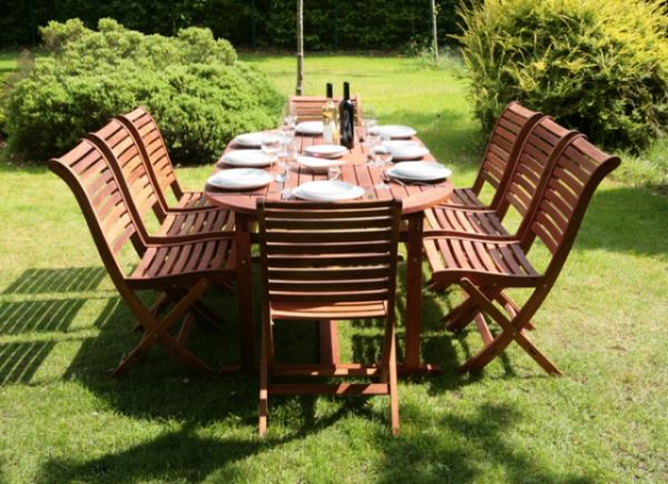 awesome seater wooden garden furniture ideas home decorating - Garden Furniture 8 Seater