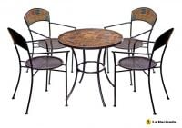 Sorrento 4 Seater Ceramic Garden Bistro Set