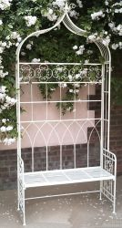 Ivory Wire Folding Arbour Garden Seat