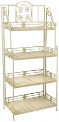 Cream Folding Baker's Rack