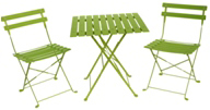 Napoli Translucent Green Bistro Set of 3