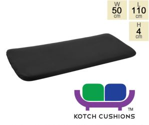 Standard Cushion for 1.2m Bench  in Black by Kotch - 4cm Thick