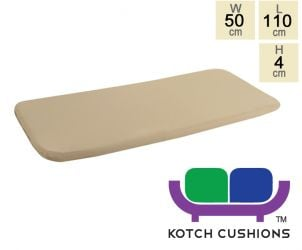 Standard Cushion for 1.2m Bench in Taupe by Kotch - 4cm Thick