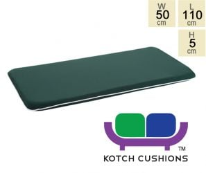 Premium Cushion for 1.2m Bench in Green by Kotch - 5cm Thick