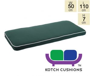 Deluxe Cushion for  1.2m Bench in Green by Kotch - 7cm Thick