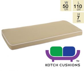 Deluxe Cushion for 1.2m Bench in Taupe by Kotch - 7cm Thick