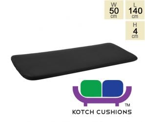 Standard Cushion for 1.5m Bench in Black by Kotch - 4cm Thick