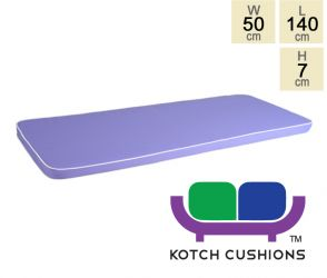 Deluxe Cushion for 1.5m Bench in Lilac by Kotch - 7cm Thick
