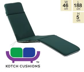 Premium Steamer Cushion in Green by Kotch - 5cm Thick