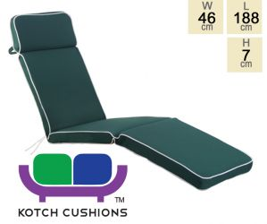 Deluxe Steamer Cushion in Green by Kotch - 7cm Thick
