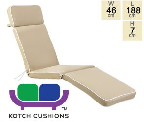 Deluxe Steamer Cushion in Taupe by Kotch - 7cm  Thick