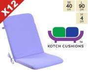 Set of 12 Standard Folding Chair Cushions in Lilac by Kotch - 4cm Thick