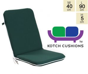 Premium Folding Chair Cushion in Green by Kotch - 5cm Thick