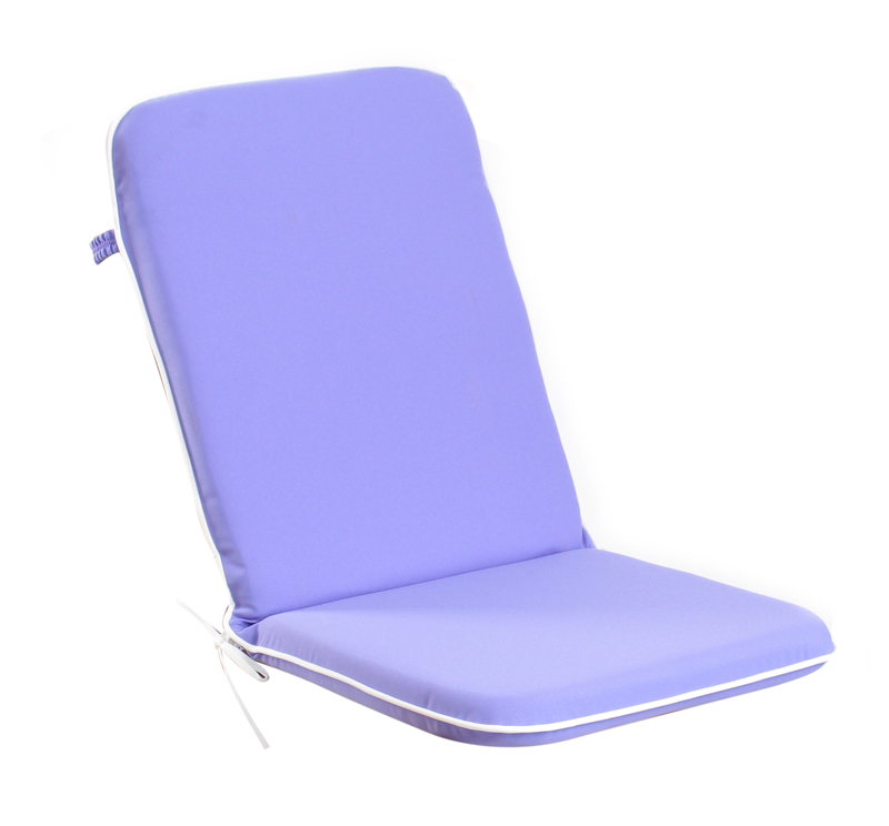 Set of 8 Premium Folding Chair Cushions in Lilac by Kotch 5cm Thick £84 99