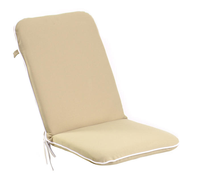 Premium Folding Chair Cushion in Taupe by Kotch 5cm Thick £19 99