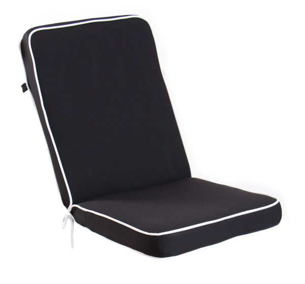 Set of 4 Deluxe Folding Chair Cushions in Black by Kotch 7cm Thick £84 99