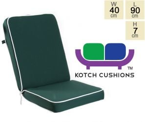 Deluxe Folding Chair Cushion in Green by Kotch - 7cm Thick