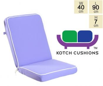 Deluxe Folding Chair Cushion in Lilac by Kotch - 7cm Thick