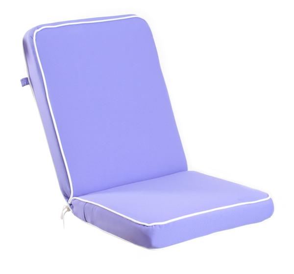 Deluxe Folding Chair Cushion in Lilac by Kotch 7cm Thick £18 99
